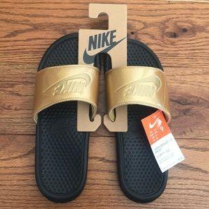 Nike  gold slides